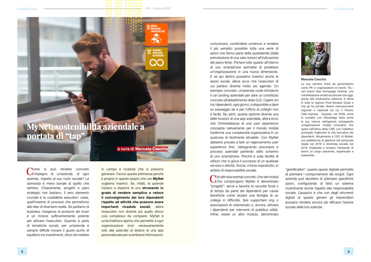 MyNet e la sostenibilità aziendale